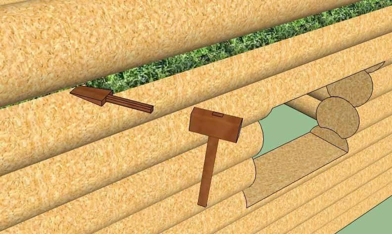 Межвенцовый утеплитель для бруса: технология конопатки сруба