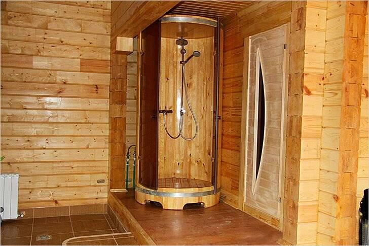 Душевая в бане: дизайн, отделка интерьера