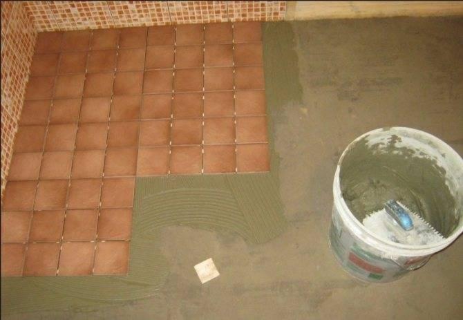 Укладка плитки в бане своими руками
