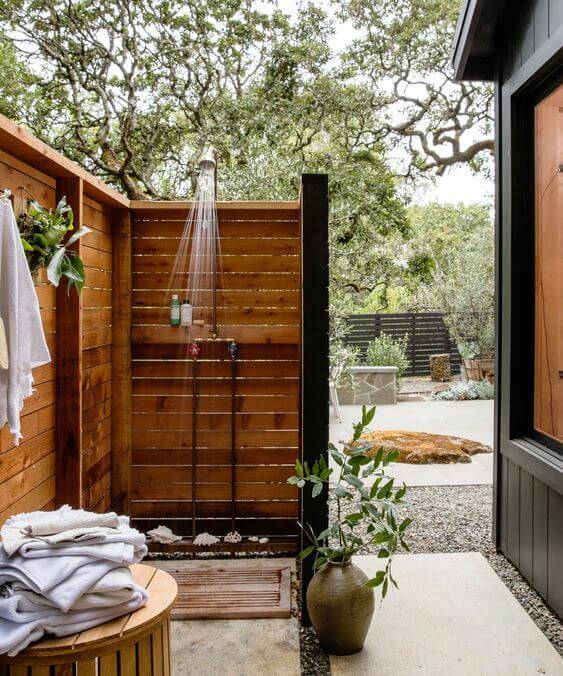 Летний душ: 85 фото-идей, размеры и советы как сделать душ правильно