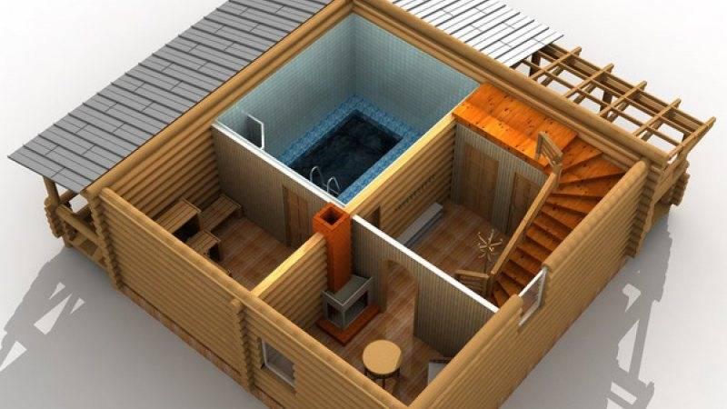 Баня из пеноблоков своими руками: план, проекты, отделка