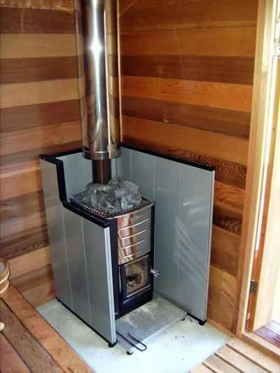 Установка печи в бане на деревянный пол пошагово: инструкция