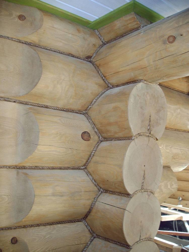 Усадка сруба из бруса для бани: от чего зависит его величина