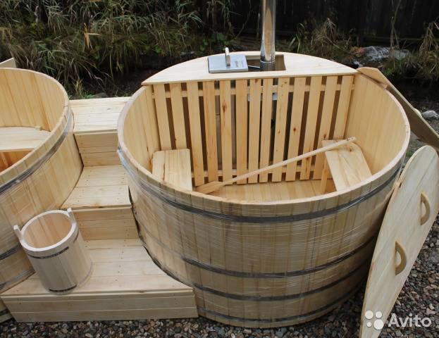 Купель для бани: два варианта изготовления