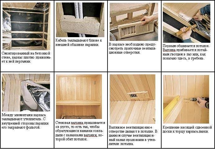 Отделка (обшивка) бани внутри вагонкой своими руками – монтаж деревянной вагонки в парной, сауне, как крепить, чем покрыть + фото и видео