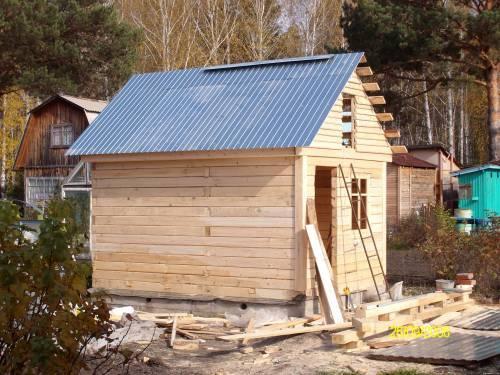 Как построить самим баню на даче