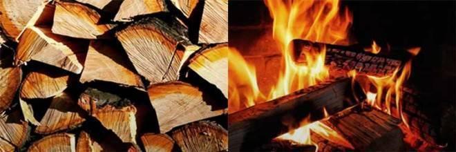 О температуре горения и теплотворности дров