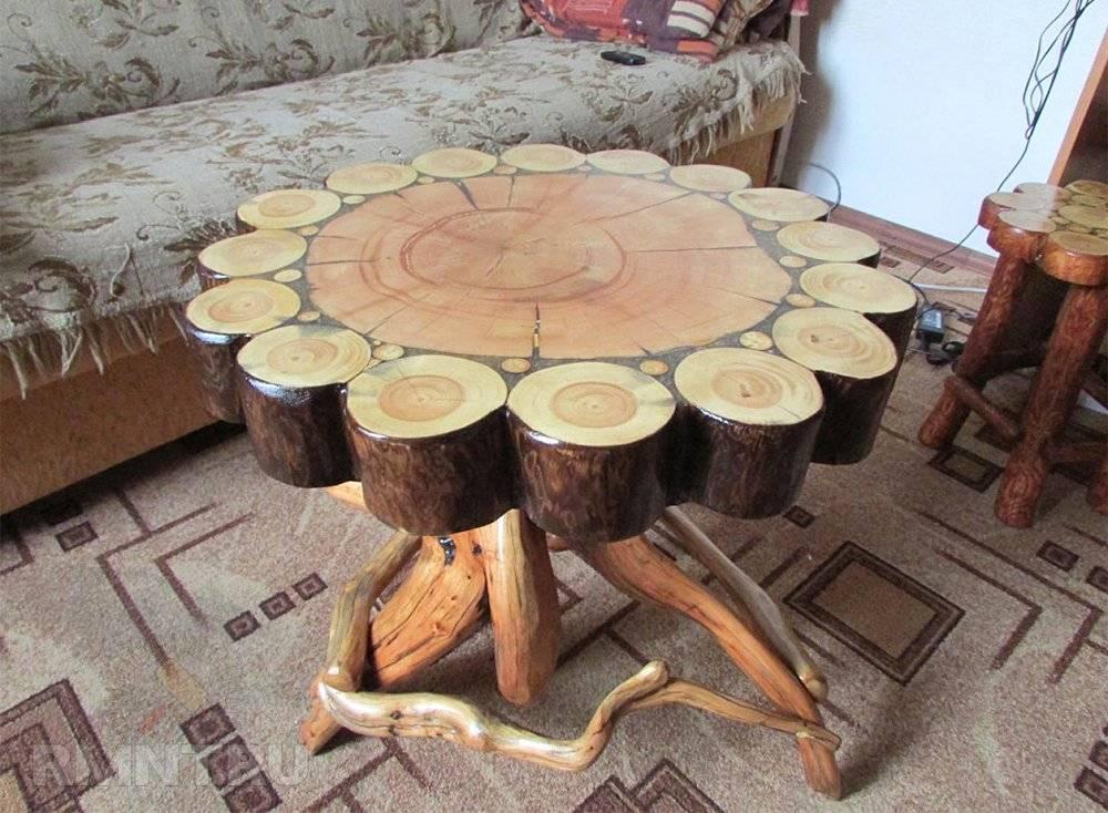 Мебель из бревна своими руками: фото-подборка для вдохновения