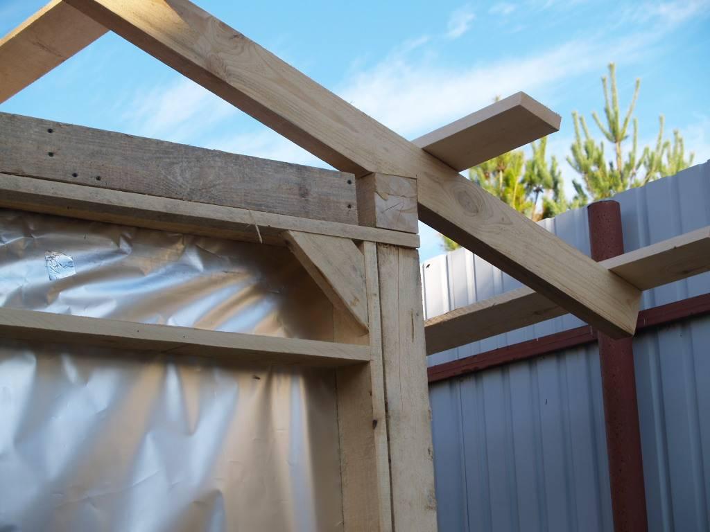 Как сделать односкатную крышу своими руками
