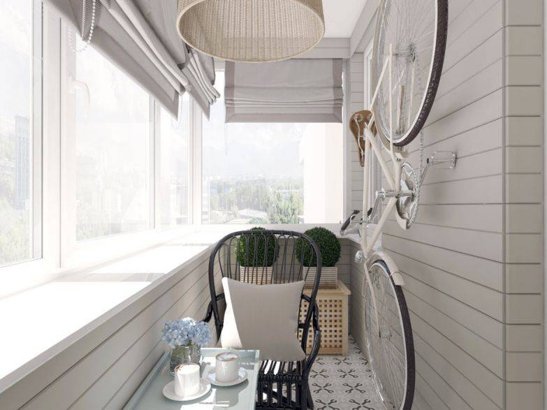 Устройство лоджии и балкона в скандинавском стиле