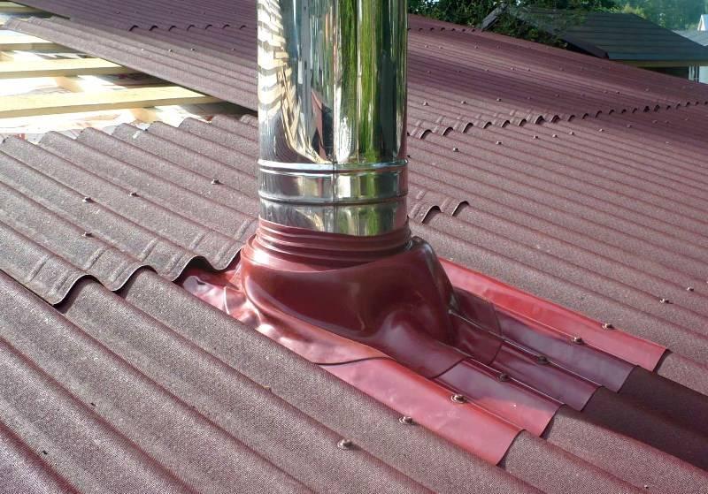 Изоляция печной трубы на крыше - кровля и крыша
