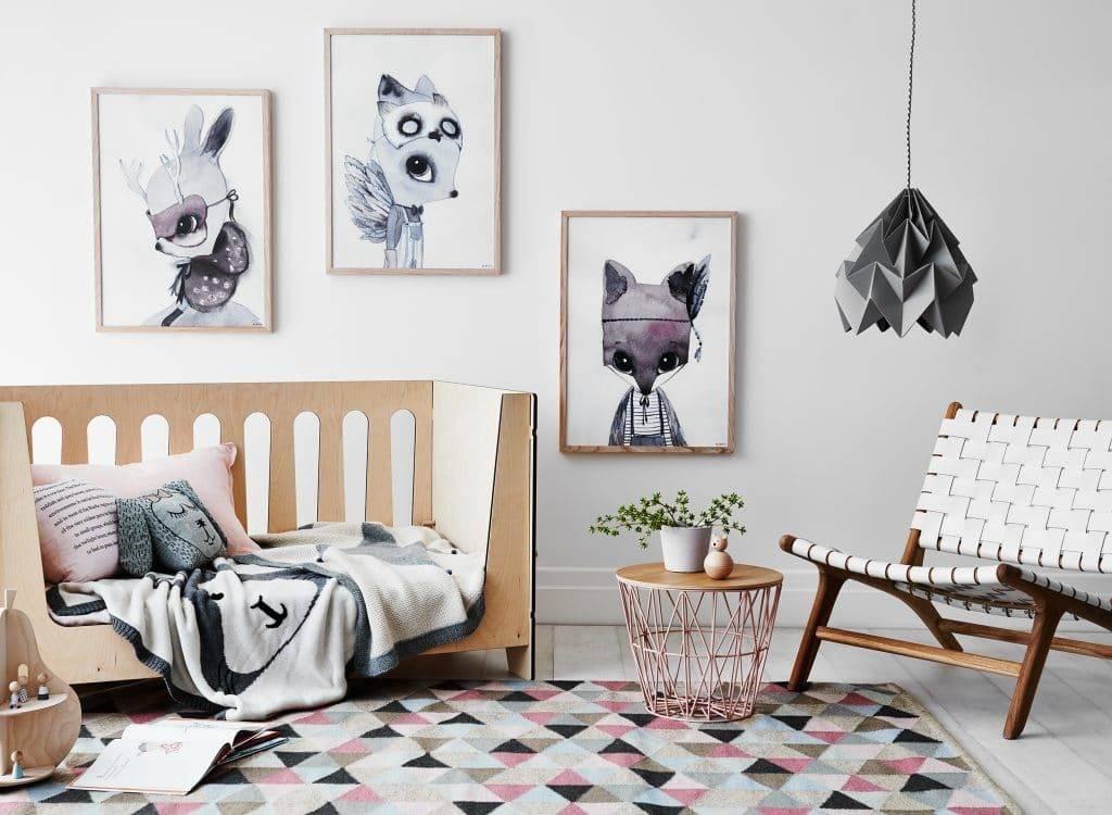 Покраска стен в детской комнате (30 настоящих фото)