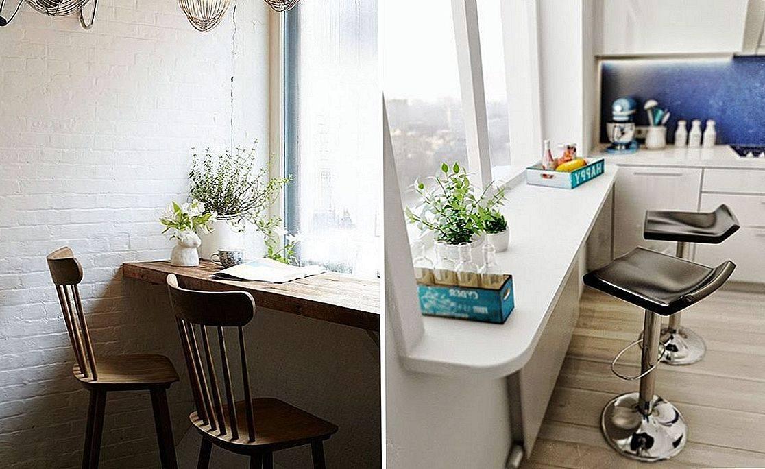 Подоконник-столешница в дизайне интерьера кухни