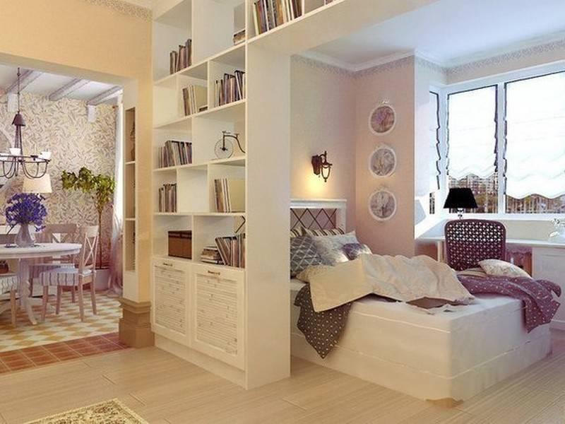 Зонирование спальни гостиной - варианты интерьера с фото
