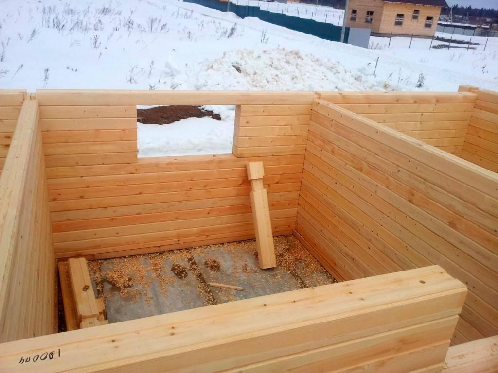 Строительство бани из профилированного бруса: плюсы и минусы