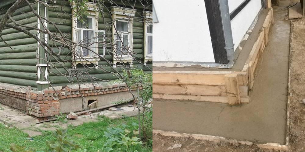 Методики ремонта и замены ленточного фундамента под деревянным домом