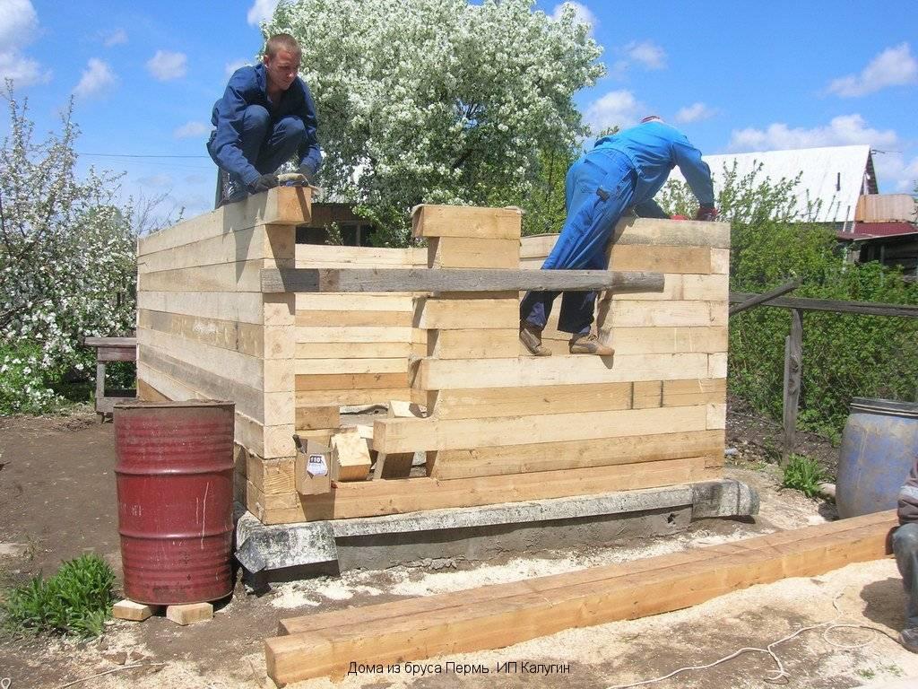 Бани из бревна: как сделать своими руками, строительство, как построить из оцилиндрованных бревен, как правильно собрать
