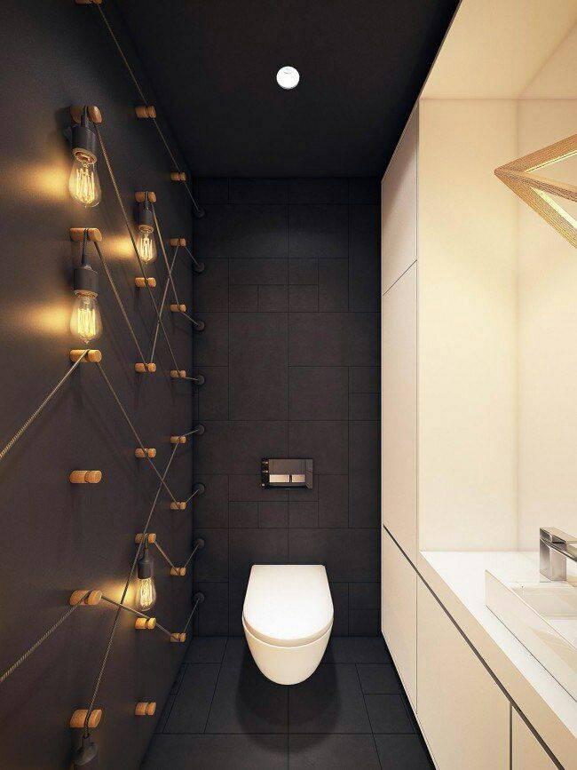 Обман зрения: 20 примеров того, как визуально увеличить маленький туалет