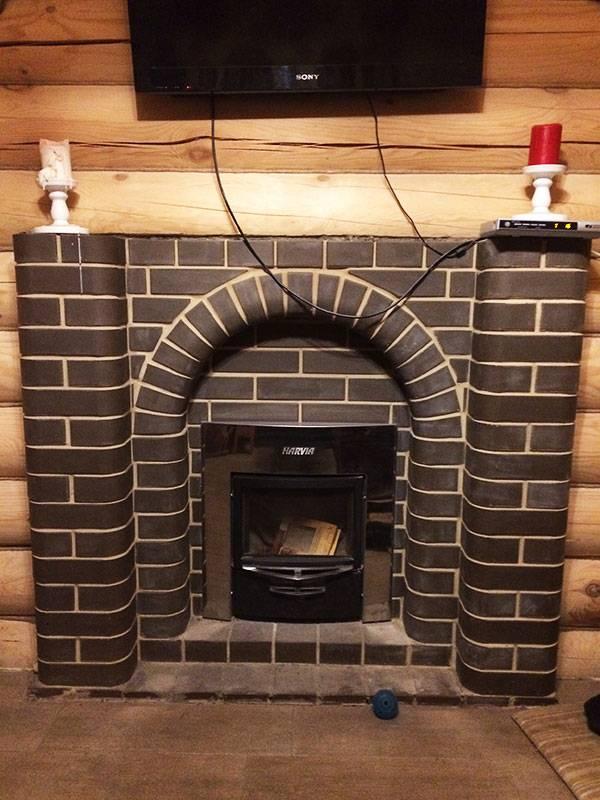 Портал для печи в баню: как обложить печь, экран из кирпича или метелла