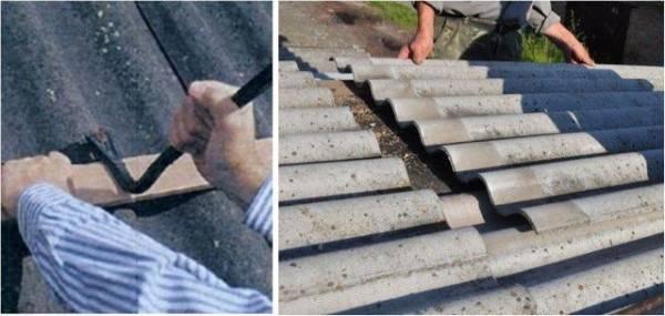 Чем и как заделать трещину в шифере на крыше: ремонт шиферной крыши своими руками