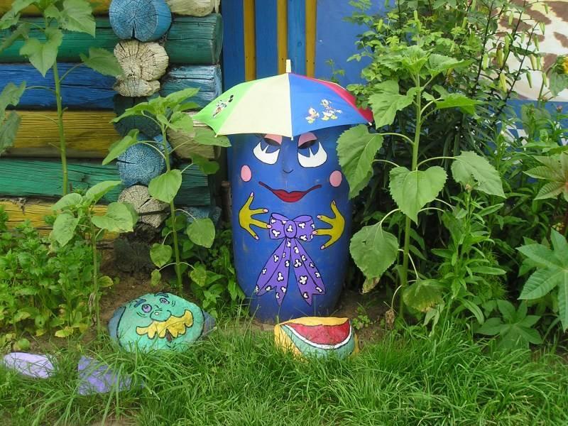 Как разукрасить: садовые бочки для воды, декор своими руками, как покрасить если не умеешь рисовать, трафареты с рисунками