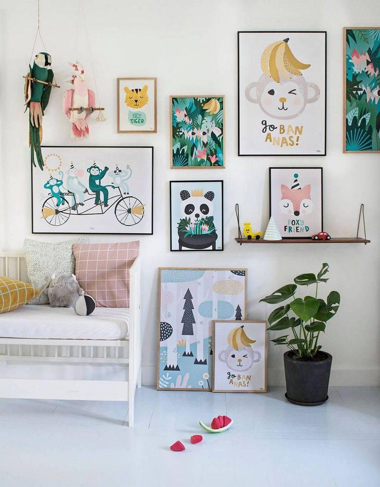 Декор детской комнаты: особенности, идеи - 75 фото