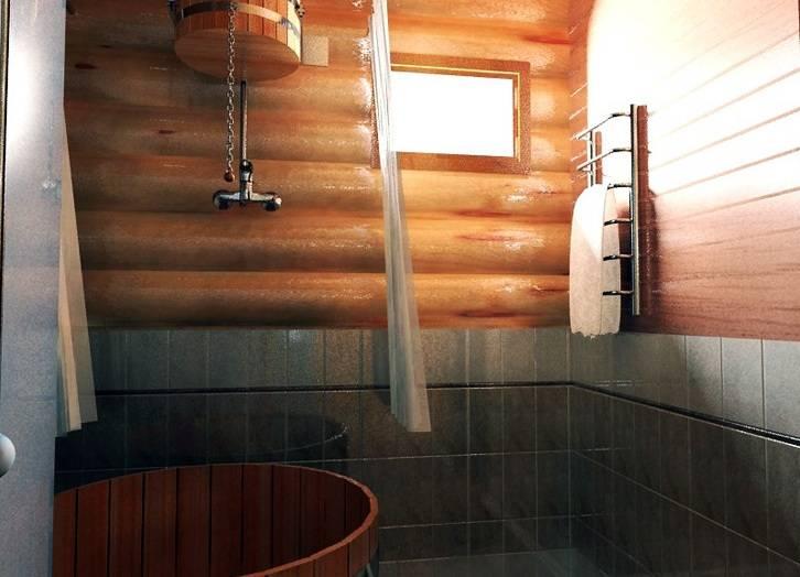 Отделка помывочной в бане - строим баню или сауну