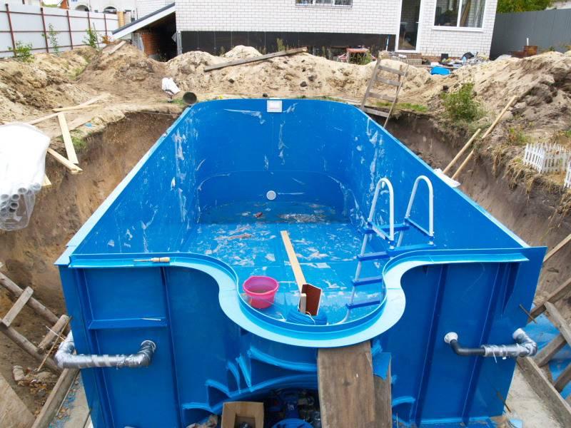 Пластиковые бассейны (42 фото): из полипропилена вкапываемые и другие модели. монтаж чаши своими руками уличных бассейнов