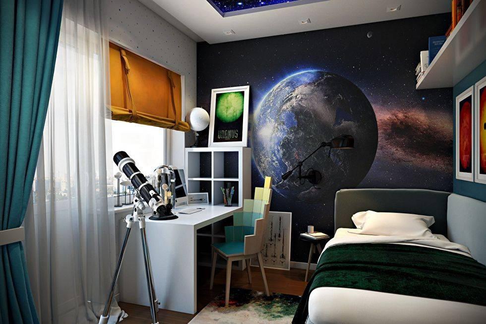 Oбои космос - как оригинально оформить комнату?