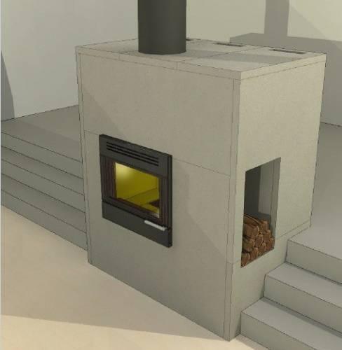 Отделка стен возле печи — какие используют жаростойкие материалы