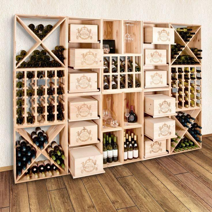 Стеллаж для хранения вина — рассматриваем в общих чертах