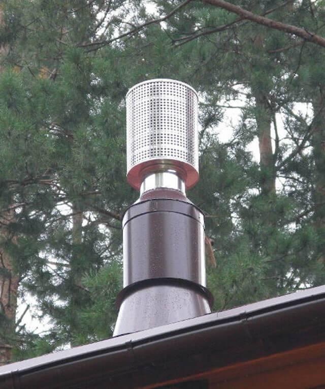 Классификация искрогасителей на дымоходную трубу: кожух, дефлектор и гидрофильтры