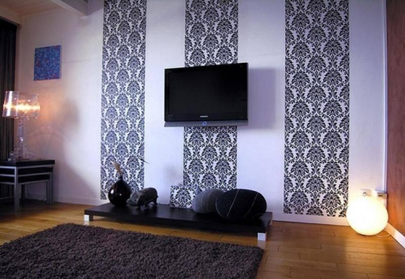 Как красиво поклеить обои в зале? 75 фото идеи дизайна обоев для дома, интересные варианты поклейки гостиной