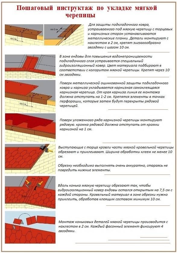 Устройство мягкой кровли своими руками — правила работы с 4-мя различными типами материалов