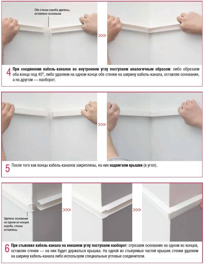 Кабель-каналы: виды и размеры, как крепить к стене, демонтаж