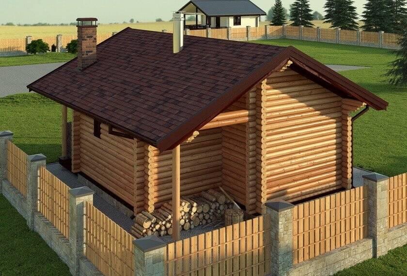 Баня сбеседкой под одной крышей — 40фото примеров, проекты