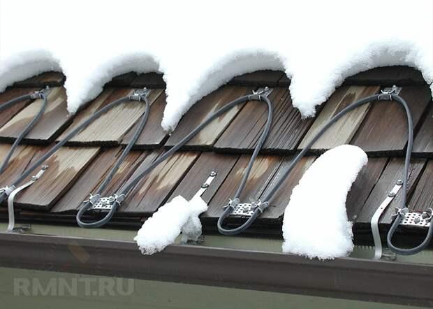 Обогрев крыши, в том числе как правильно провести монтаж греющего кабеля
