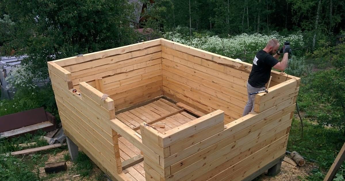 Простая баня своими руками - варианты и особенности постройки