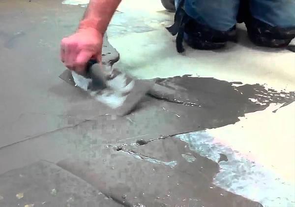 Железнение бетонных поверхностей, технология: цементных покрытий полов, бетона