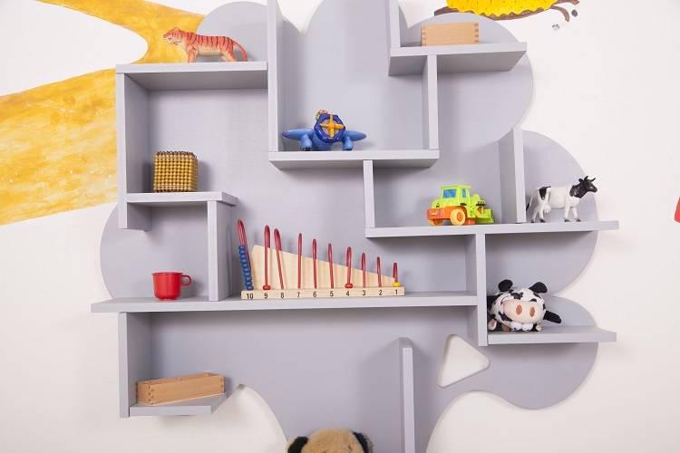 Как сделать полку для игрушек и книг в детскую комнату своими руками