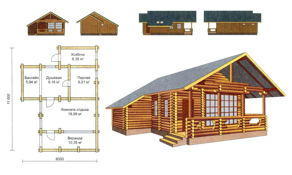 Баня и дом под одной крышей: как воплотить проект