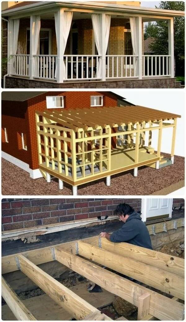 Как построить уютную террасу для частного или загородного дома своими руками