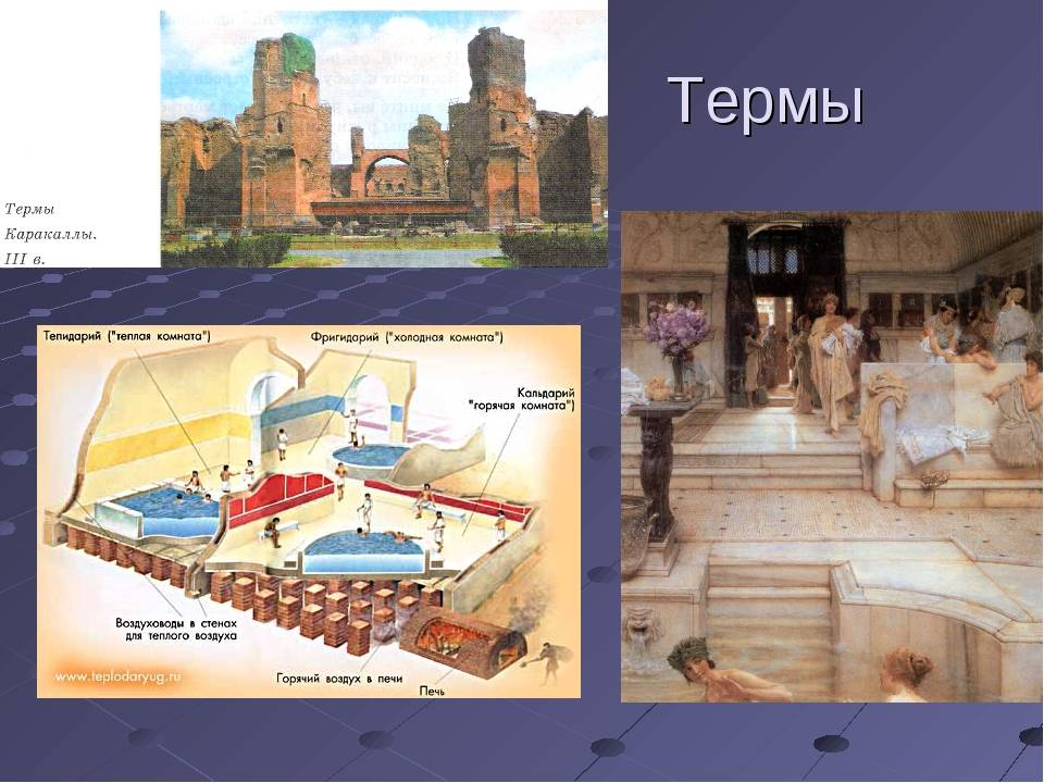 Древние римские бани термы – устройство, особенности использования, воздействие на организм