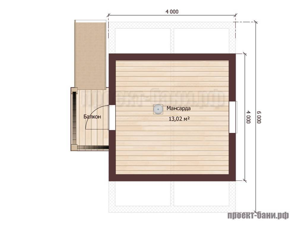 Виды и особенности планировки бань размером 4х4