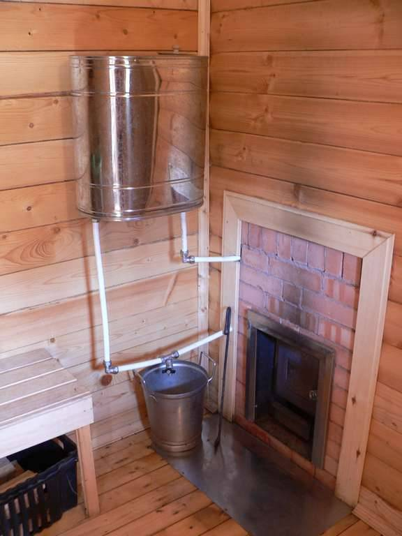 Нагрев воды в бане от печки, от дымохода и другими способами