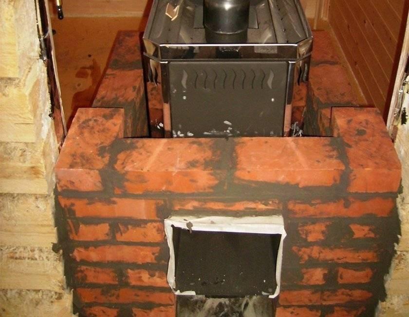 Как обложить железную печь в бане кирпичом - делаем сами