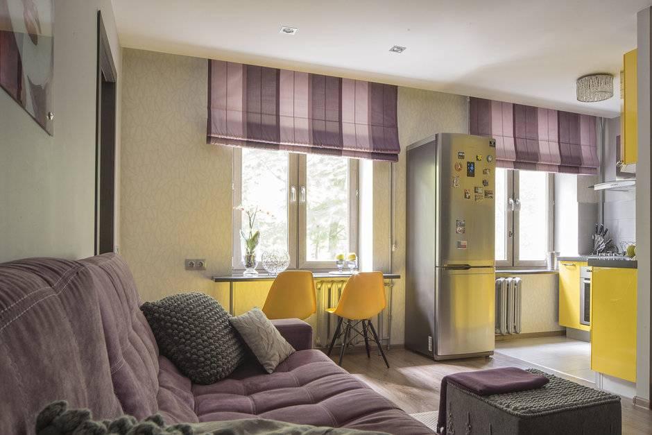 Дизайн 2х комнатной квартиры: фото ремонта хрущевок 44 м2 без перепланировки