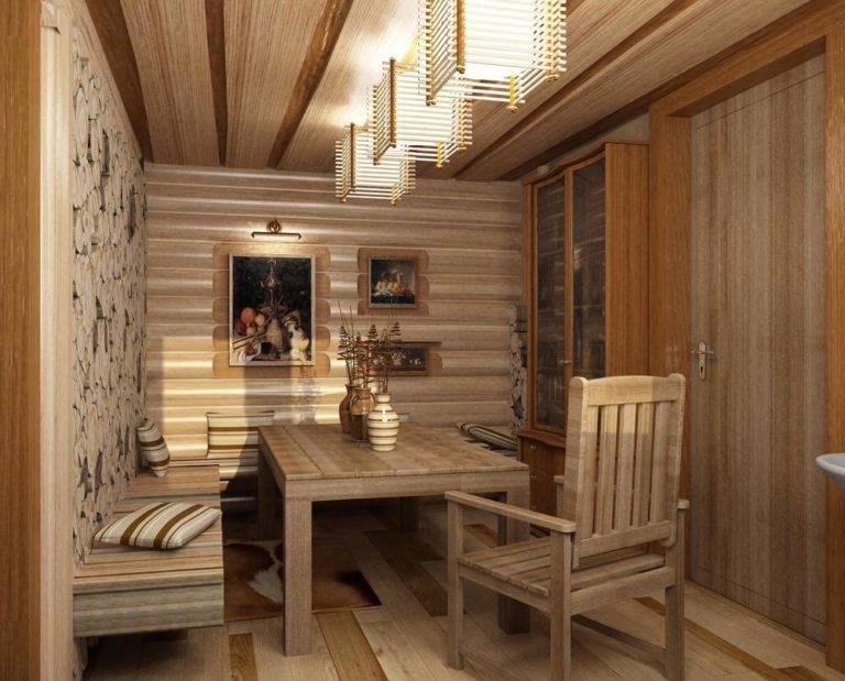 Интерьер бани, отделка внутри - фото примеров