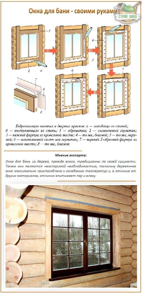 Деревянные окна для бани своими руками