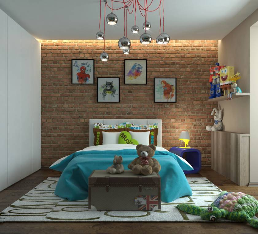 Детская лофт - индустриальный стиль и идеи его применения для детских комнат (110 фото)
